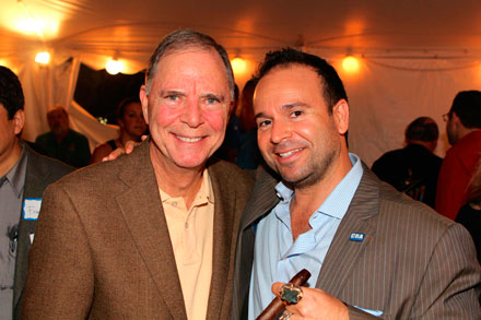Congressman Bill Posey with Drew Estate co-founder Marvin Samel